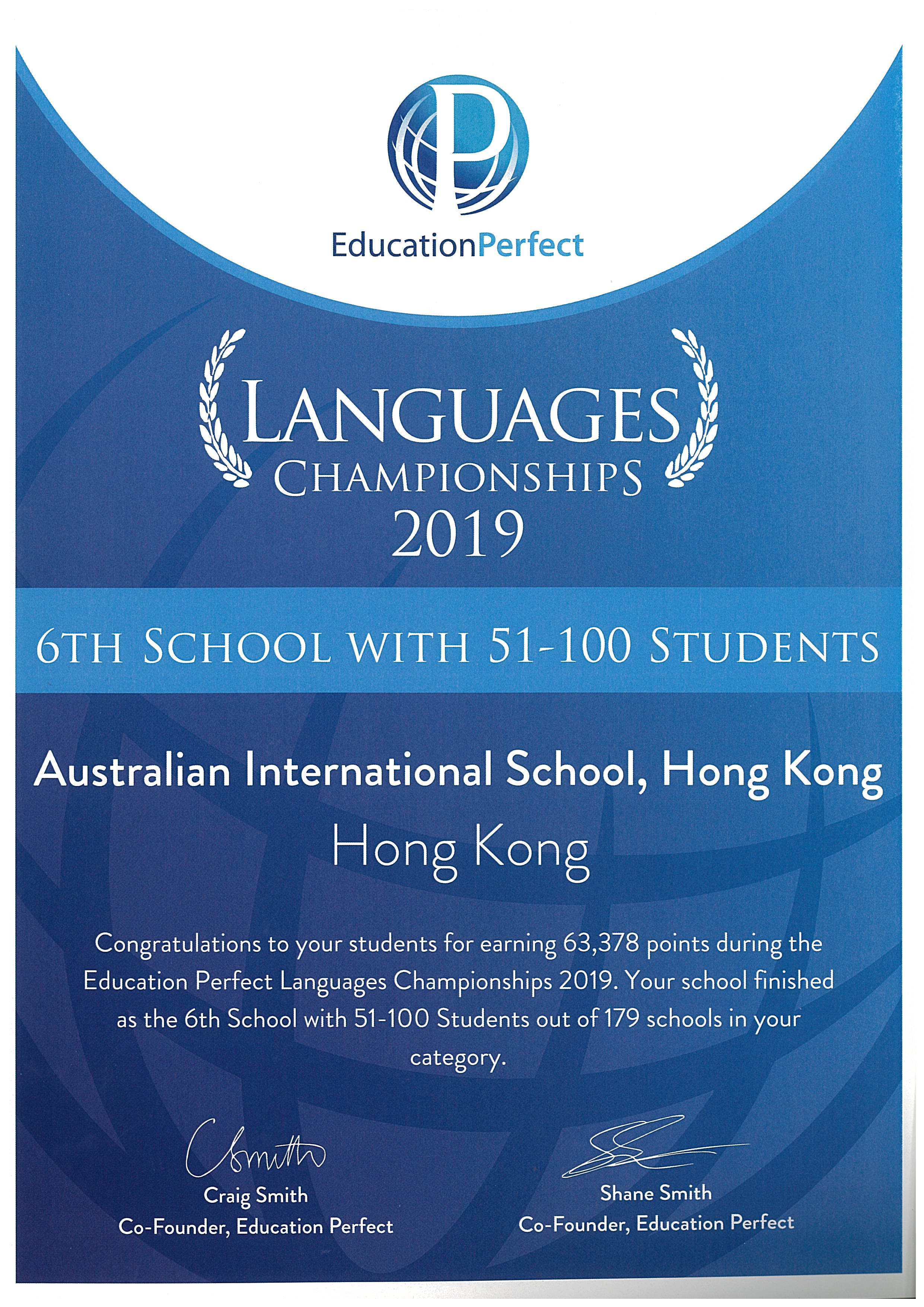 language perfect competition 2019